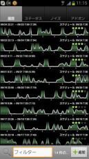 睡眠グラフの履歴