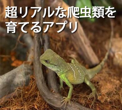 リアルな爬虫類をスマホで育てる