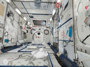 宇宙ステーションきぼうの船内