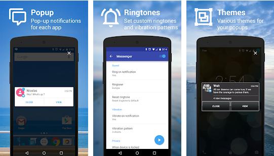 メール・SNSの通知をLINEみたいにポップアップで表示するアプリ