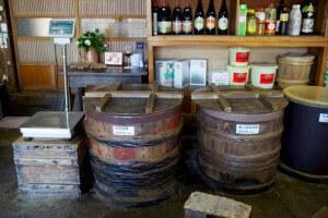 福島県相馬市の「相馬ヤマブン山形屋」さんの店内。創業150年。