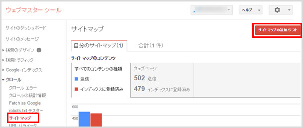 サイトマップを追加