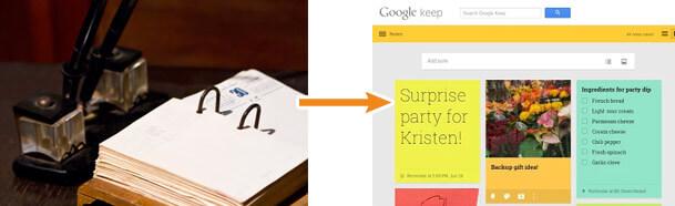メモはGoogle Keepへ