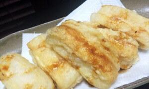 豆腐のお揚げ包み天ぷらの完成