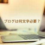 ブログで稼ぐには何文字書いて・何ページ必要なの?