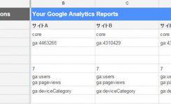 Googleアナリティクスで管理するサイトをスプレッドシートへ!