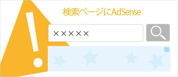 検索結果ページにAdSense