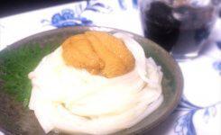 プチ贅沢冷麺!赤ワイン醤油つゆとウニの冷麺
