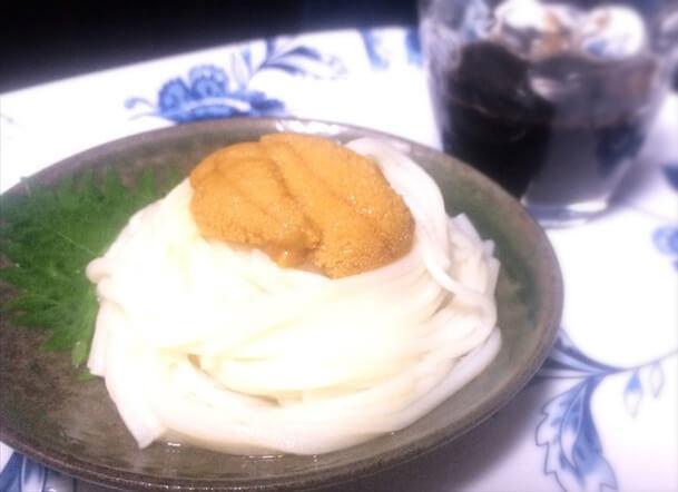 ウニを使った冷麺