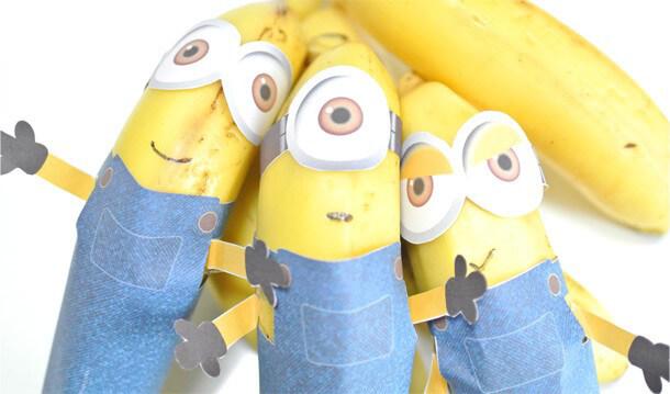 ミニオンズをバナナで作る