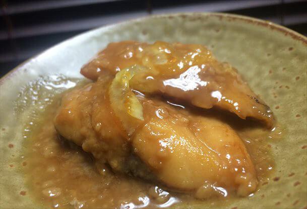 焼き塩サバの甘酒味噌醤油煮込み