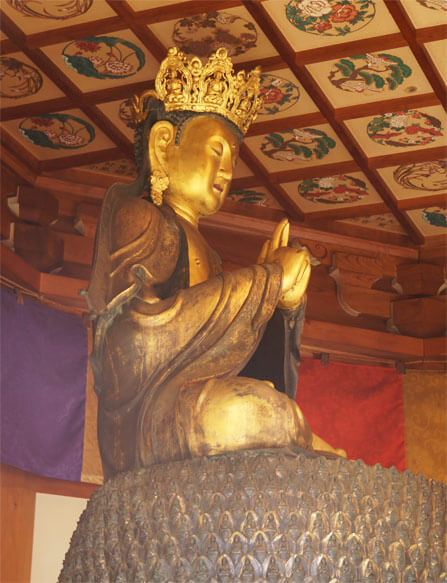 五郎丸ポーズをする仏像