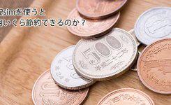 格安simを使うと毎月いくら節約できる?5,000円以上は節約できるかも!