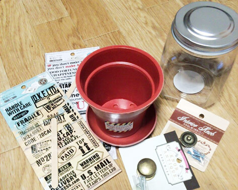 キャンディポットの材料と道具