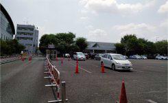 日本ガイシホールの駐車場