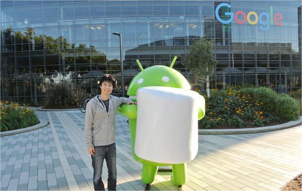 米Google本社へ