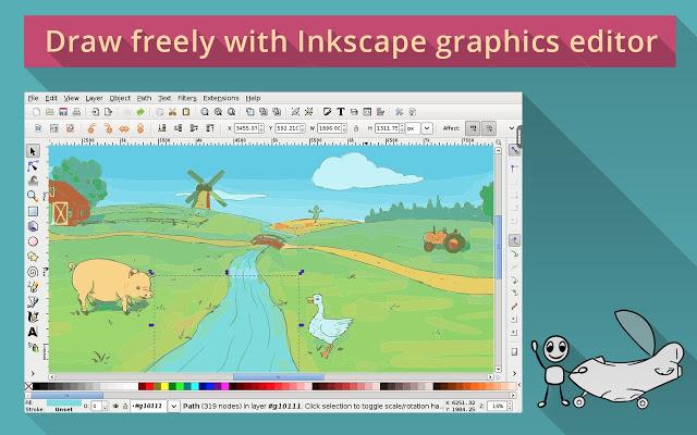 無料版イラストレーター『Inkscape』がChromeの拡張機能で使用できる!