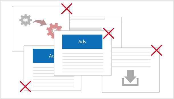 ポップアップウィンドウで AdSense 禁止