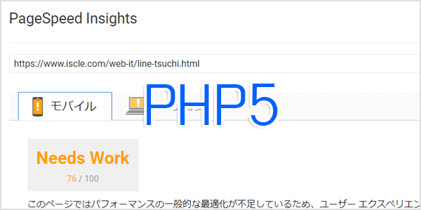 PageSpeed Insights-php5