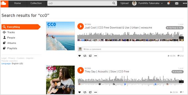 CC0のフリー音楽素材
