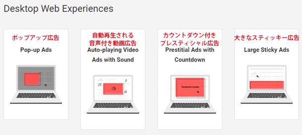 """デスクトップ版の広告基準"""""""