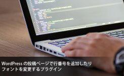 WPの投稿ページで行番号を追加したりフォントを変更するプラグイン