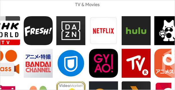 Chromecast で対応しているサービスやアプリ