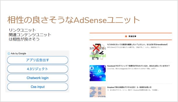 相性の良さそうな AdSense 広告ユニットを置く