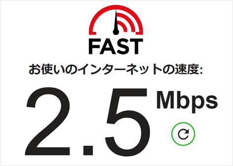 ソフトバンクairの速度