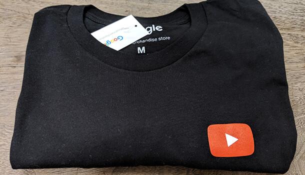YouTube ロゴ入りT-シャツ