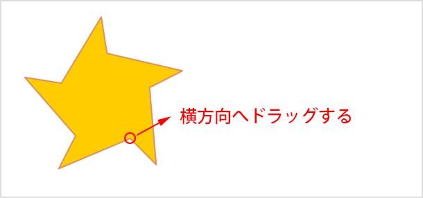 ねじれた形の星型