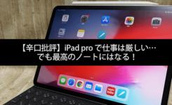 【辛口批評】iPad pro で仕事は厳しい…でも最高のノートにはなる!