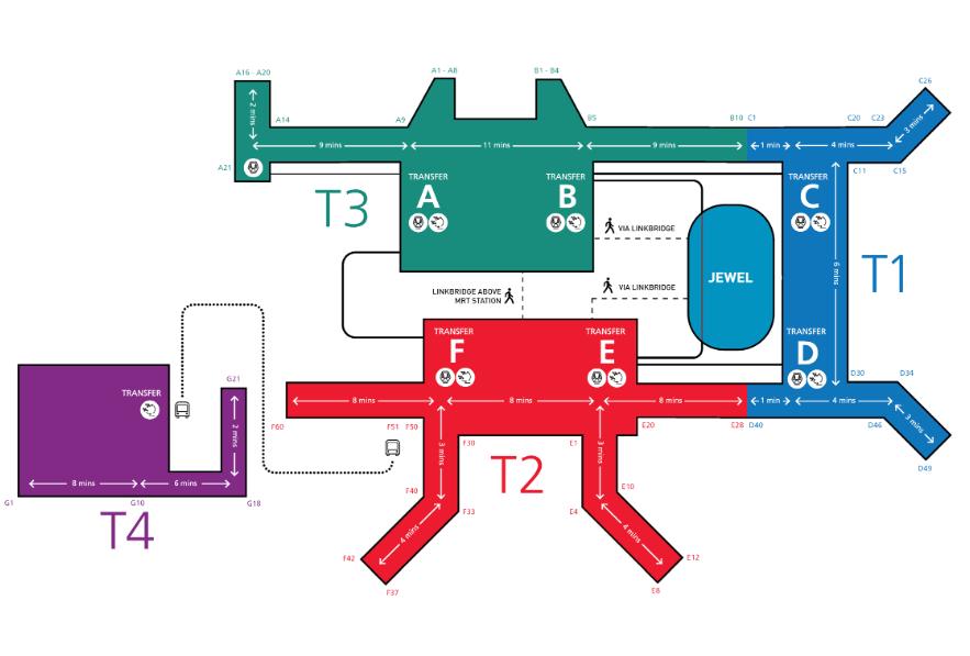 チャンギ国際空港のマップ