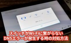 SwitchがWi-Fiに繋がらない・DNSエラーが発生する時の対処方法