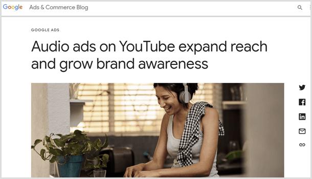 Google 広告でオーディオ広告