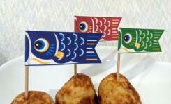 子供の日に最適!爪楊枝で鯉のぼりの旗を作ろう!無料ダウンロード可能